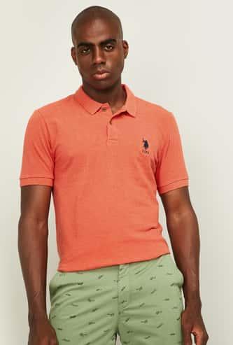 U.S. POLO ASSN. Men Solid Regular Fit Polo T-shirt
