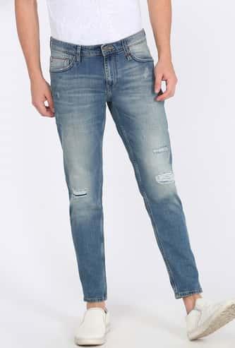 LEE Men Distressed Skinny Fit Jeans