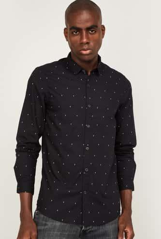 LEE Men Printed Slim Fit Casual Shirt