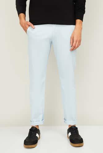 ALLEN SOLLY Men Solid Super Slim Casual Trousers