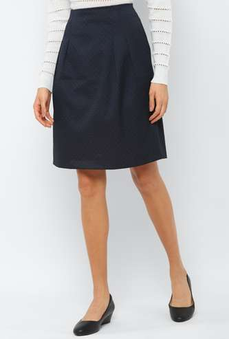 ALLEN SOLLY Women Printed Woven Skirt