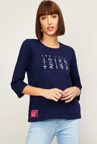 ALLEN SOLLY Women Printed T-shirt
