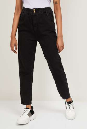 MAX Solid Ankle Length Regular Jeans