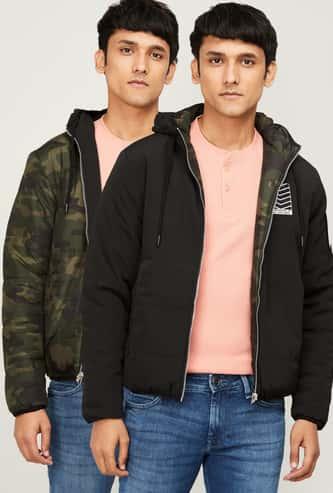 FORCA Men Printed Reversible Hooded Puffer Jacket