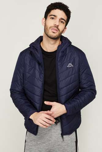 KAPPA Men Textured Hooded Puffer Jacket