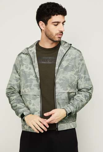 KAPPA Men Camouflage Print Bomber Jacket