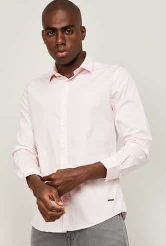 BOSSINI Men Solid Regular Fit Casual Shirt