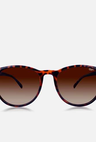O2GEN Women Animal Print Oval Sunglasses - O2-21-011-C1