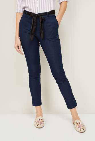 XPOSE Women Solid Woven Jeggings