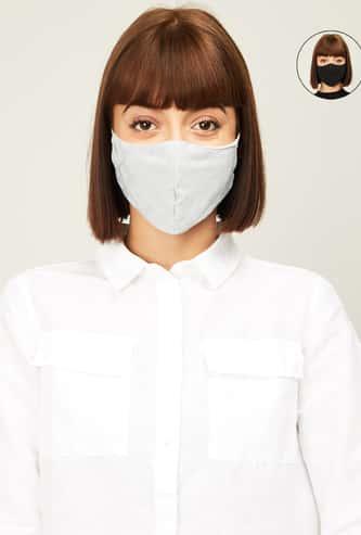 GINGER Women Printed Face Masks- Pack of 2