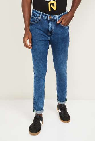 UNITED COLORS OF BENETTON Men Mid-Washed Skinny Fit Jeans