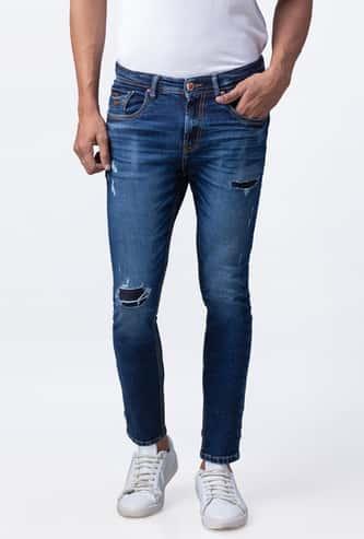 SPYKAR Men Stonewashed Slim Tapered Jeans