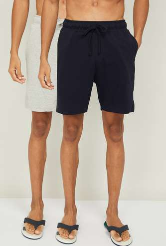 FAME FOREVER Men Textured Elasticated Boxers - Set of 2 Pcs