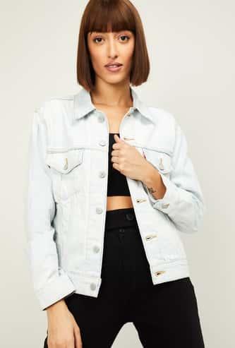 LEVI'S Women Embroidered Denim Jacket