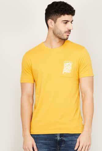 FAME FOREVER Men Printed Regular Fit Crew Neck T-shirt