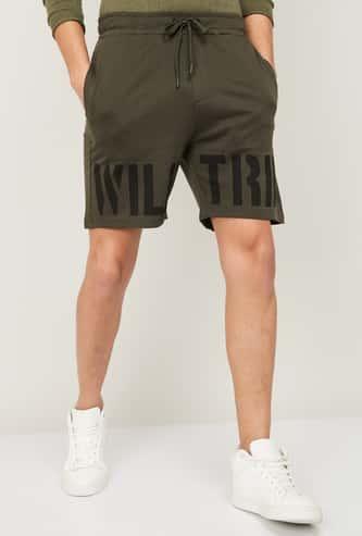 FORCA Men Printed Regular Fit Casual Shorts