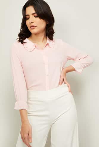 BOSSINI Women Solid Three-Quarter Sleeves Shirt
