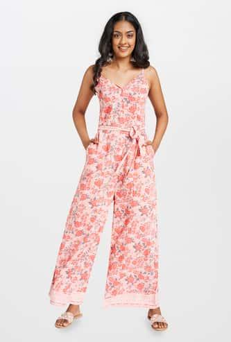 GLOBAL DESI Women Floral Printed Jumpsuit