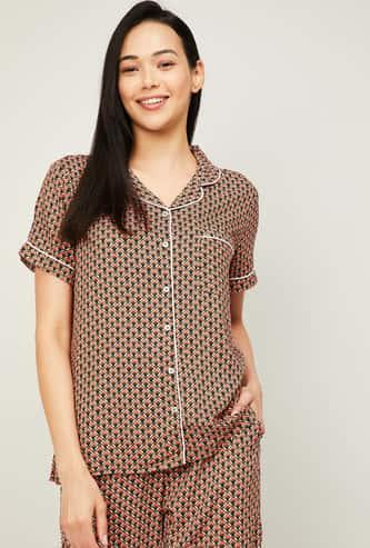 GINGER Women Printed Lounge Shirt
