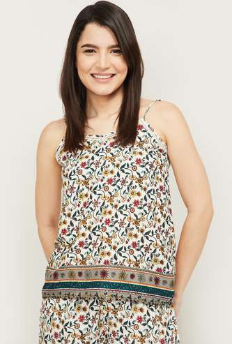 GINGER Women Floral Printed Lounge Top