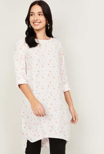 ALLEN SOLLY Women Printed Tunic