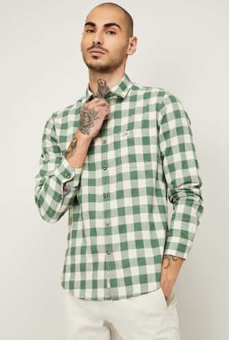 U.S. POLO ASSN. Men Checked Slim Fit Casual Shirt
