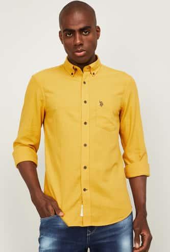 U.S. POLO ASSN. Men Textured Regular Fit Casual Shirt