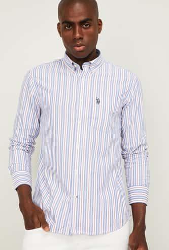 US POLO ASSN. Men Striped Buttoned-Down Collar Casual Shirt