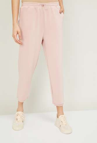 FAME FOREVER Women Solid  Drawstring Waist Joggers
