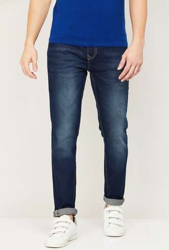 DENIMIZE Men Stonewashed Slim Fit Jeans