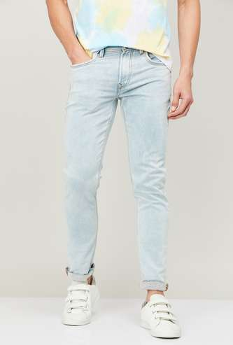 FORCA Men Washed Slim Tapered Fit Jeans
