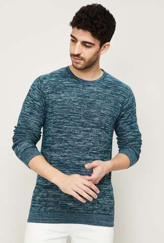 FORCA Men Textured Knitted Sweater
