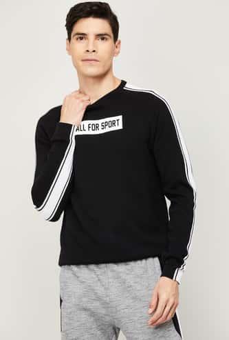 KAPPA Men Printed Full Sleeves T-shirt