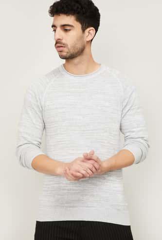 FAME FOREVER Men Textured Sweater