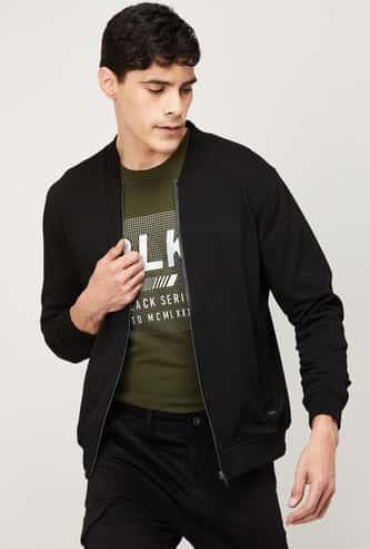 FAME FOREVER Men Textured Full Sleeve Casual Jacket