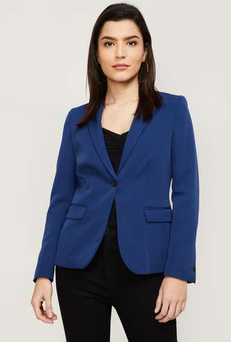 VAN HEUSEN Women Solid Formal Blazer