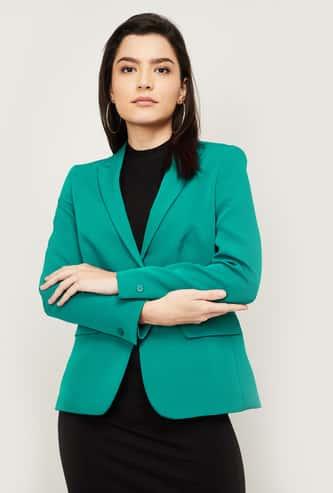 VAN HEUSEN Women Solid Single-Breasted Formal Blazer
