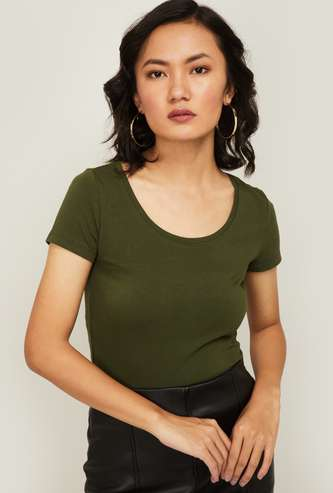 GINGER Women Solid Knit Top