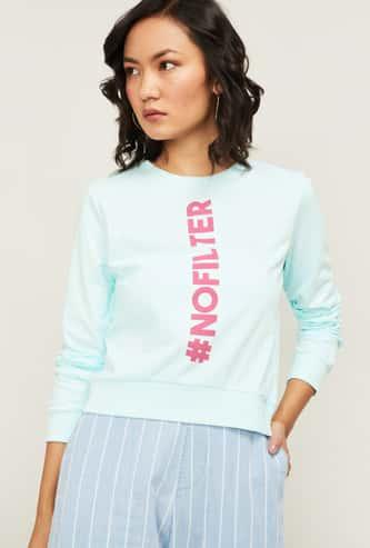 GINGER Women Printed Sweatshirt