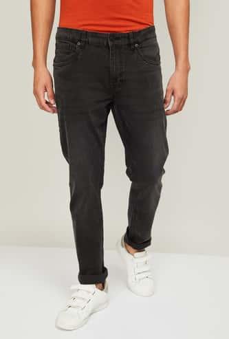 DENIMIZE Men Washed Skinny Fit Jeans