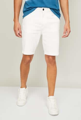 DENIMIZE Men Solid Regular Fit Woven Shorts