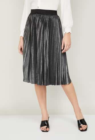 CODE Women Textured A-Line Skirt