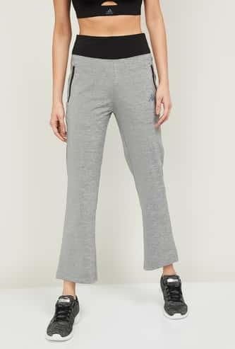KAPPA Women Textured Elasticated Waist Track Pants