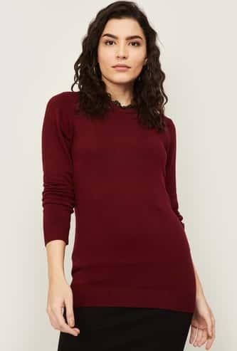 BOSSINI Women Solid Full Sleeves Sweater