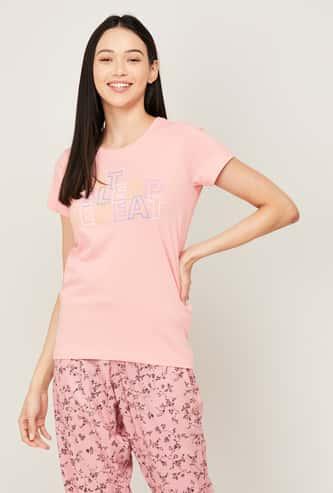 GINGER Women Printed Lounge T-shirt