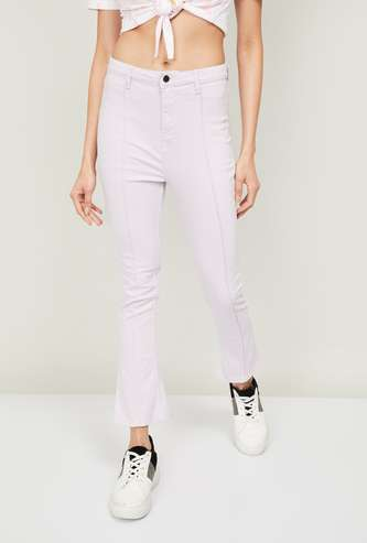 GINGER Women Solid Bootcut Jeans