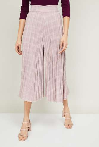 CODE Women Printed Flared Culottes