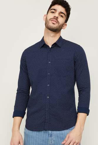 FAME FOREVER Men Printed Slim Fit Casual Shirt
