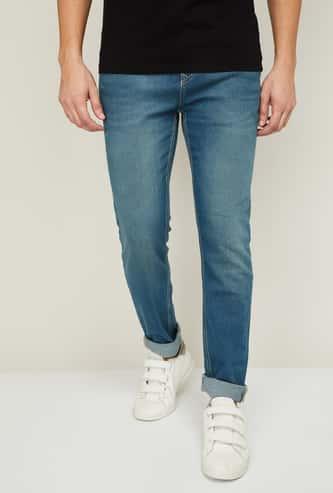 DENIMIZE Men Lightly Washed Slim Tapered Fit Jeans