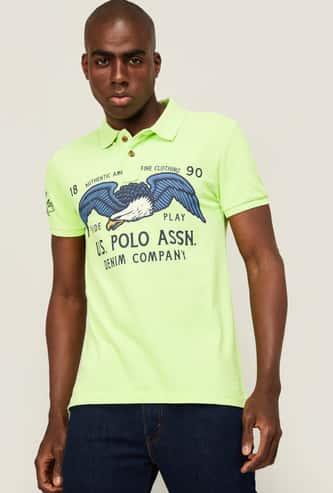 U.S. POLO ASSN. Men Typographic Print Regular Fit  -shirt